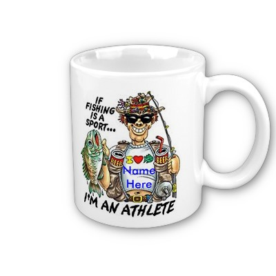 Personalised fishing sport mug funny gift for Fishing gag gifts