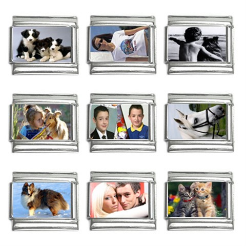 personalised nomination italian photo charm links 9mm 9 pack