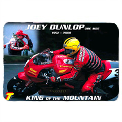 Joey Dunlop Mat, King Of The Mountian TT, Large Doormat, Motorbike Road Racing Gifts