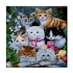 Photo Display Tile Cats & Kittens With FREE Stand