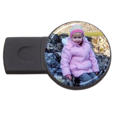personalised usb flash drive round